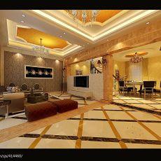 精选面积131平别墅客厅欧式装修欣赏图片