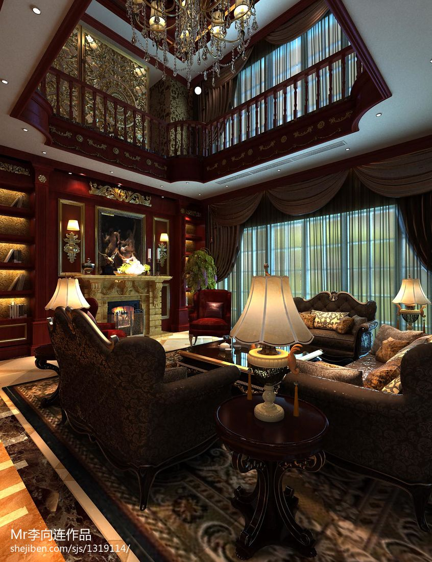 美式时尚家装风卧室设计