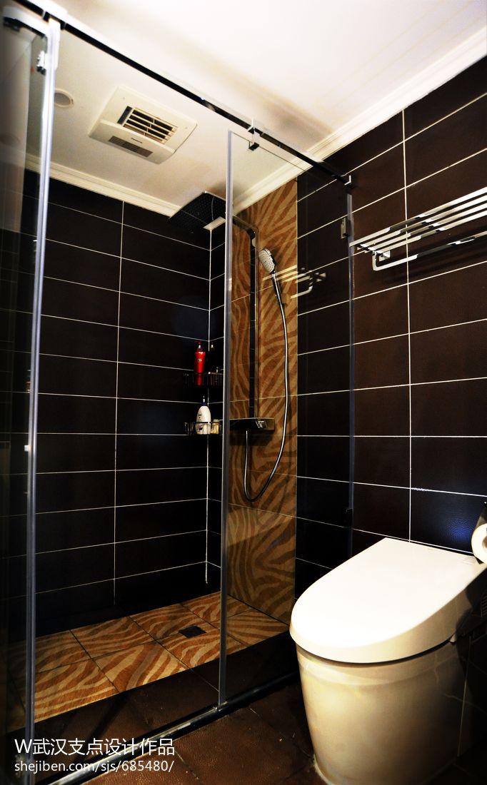 时尚现代卫浴淋浴房瓷砖装修设计效果图