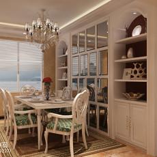 高端时尚欧式餐厅酒柜装修设计效果图