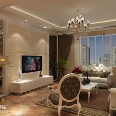 高端时尚新生活欧式客厅装修效果图