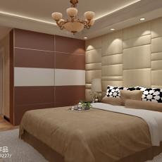 欧式卧室床头背景墙装修效果图