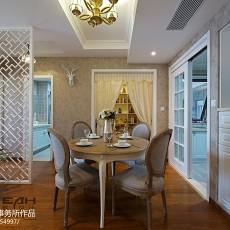 精选100平米三居餐厅中式装修图片欣赏