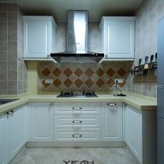热门面积96平中式三居厨房效果图片