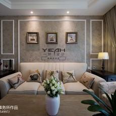 休闲美式风格客厅背景墙设计图