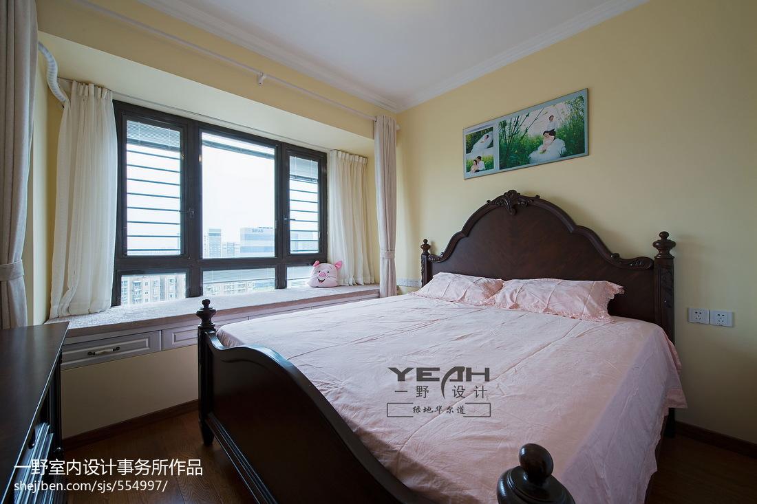休闲美式风格卧室飘窗装修效果图