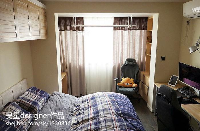 70平米小户型绿色清新的卧室装修效果图大全2013图片