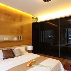 混搭风格二居卧室墙纸效果图
