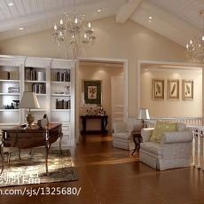 简单清新的美式书房修效果图大全2012图片