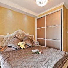 热门109平米三居卧室混搭实景图片
