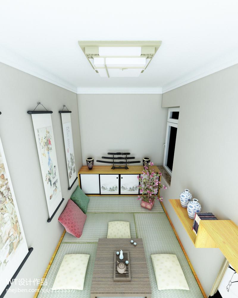 混搭榻榻米卧室家具装修设计效果图