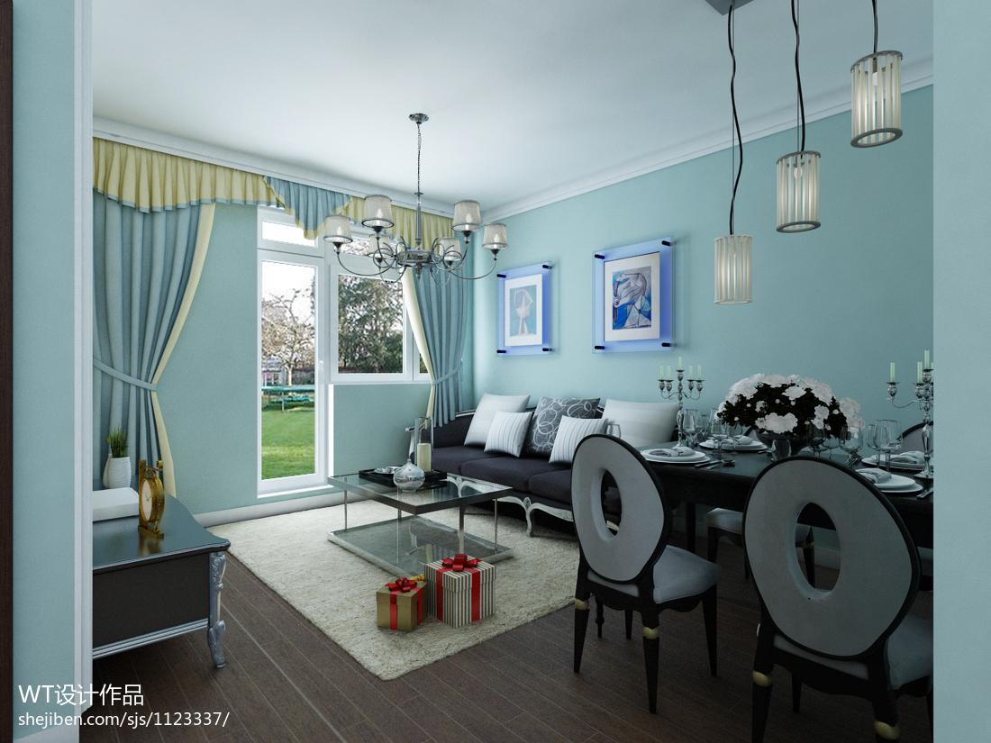 混搭风客厅沙发背景墙装修效果图