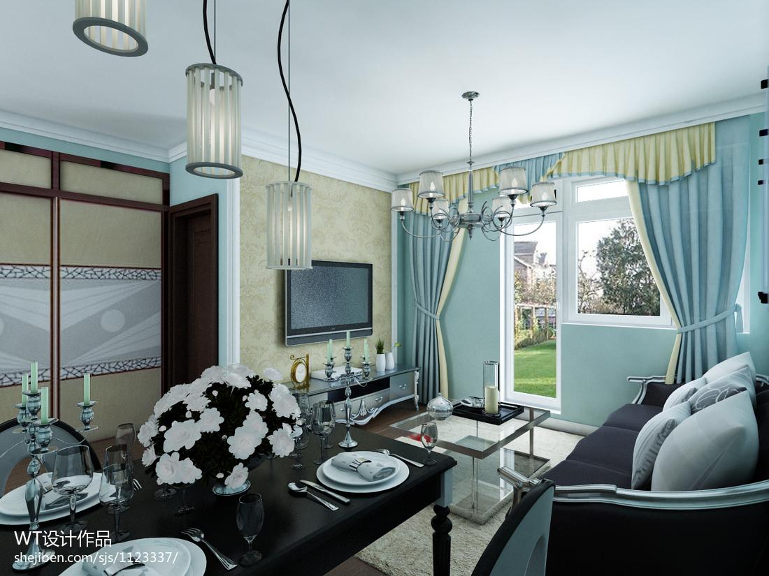 精美77平米新古典小户型客厅装修图片欣赏