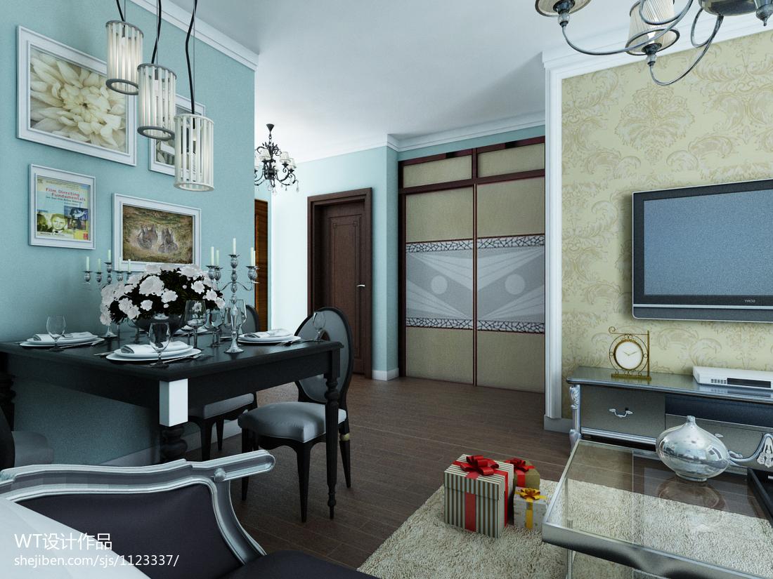 精美小户型客厅新古典装修欣赏图片