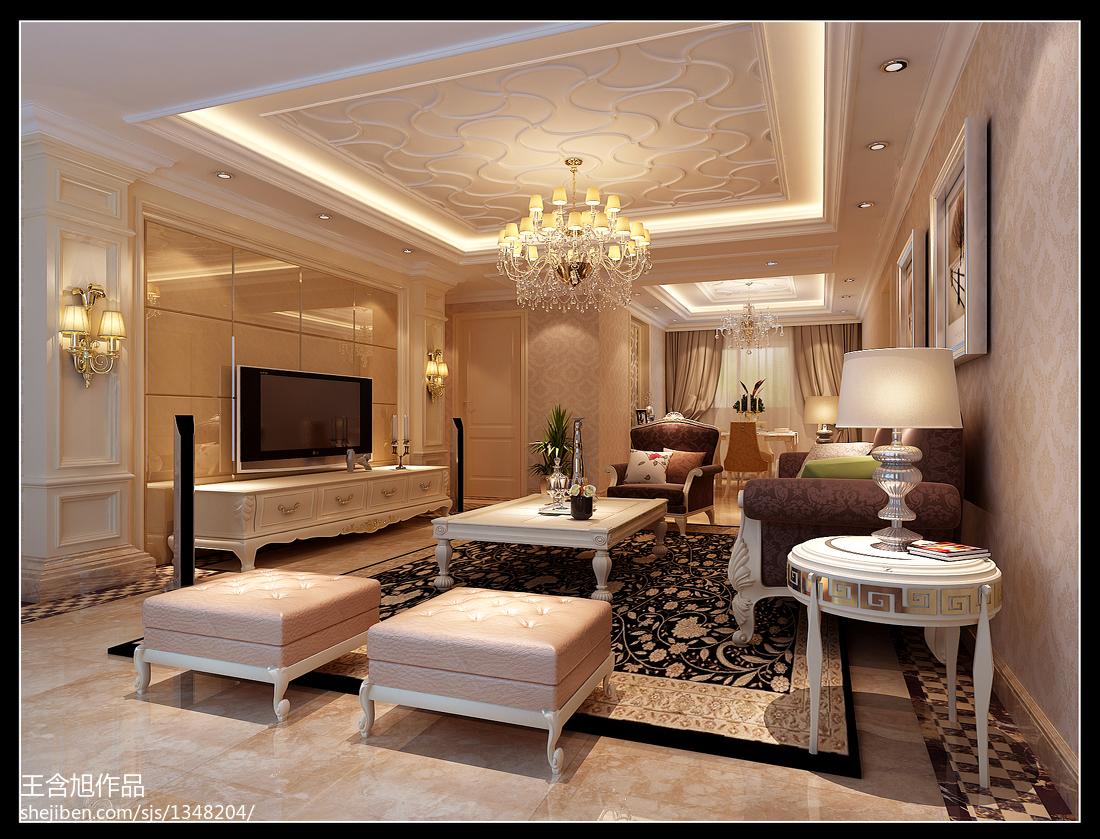 欧美现代客厅装修效果图欣赏