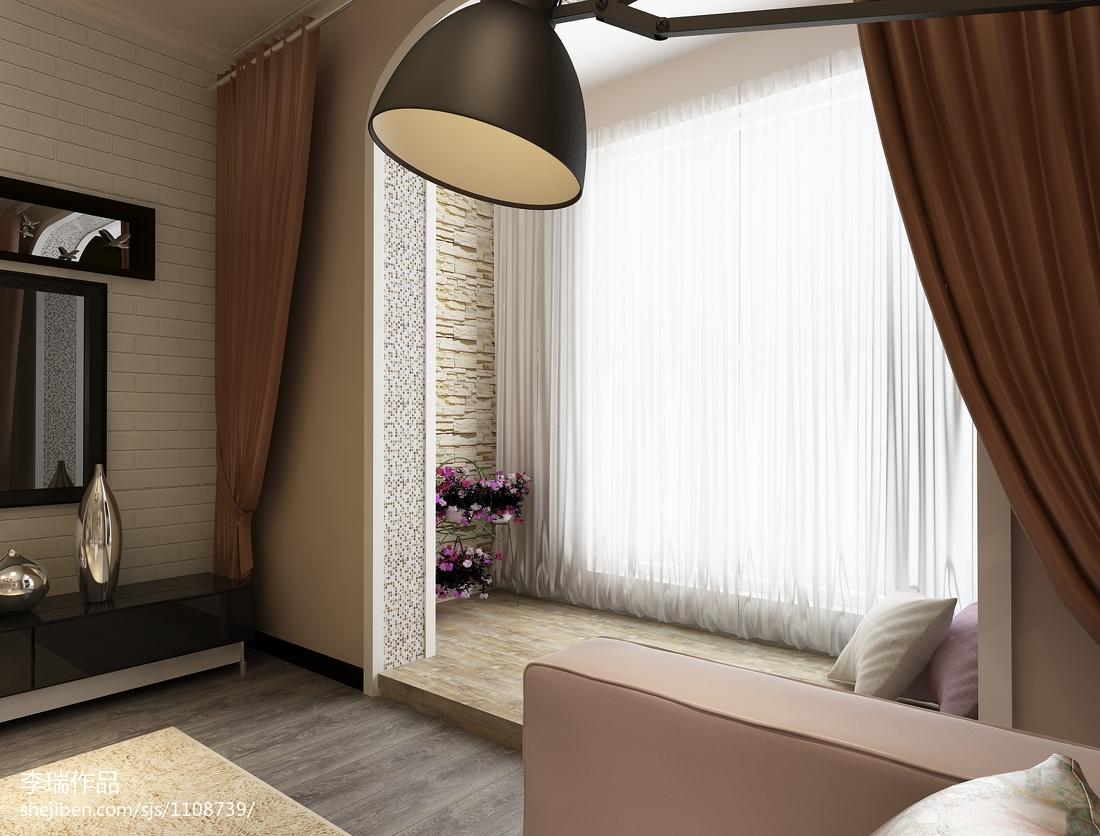 2018家装阳台窗帘图片
