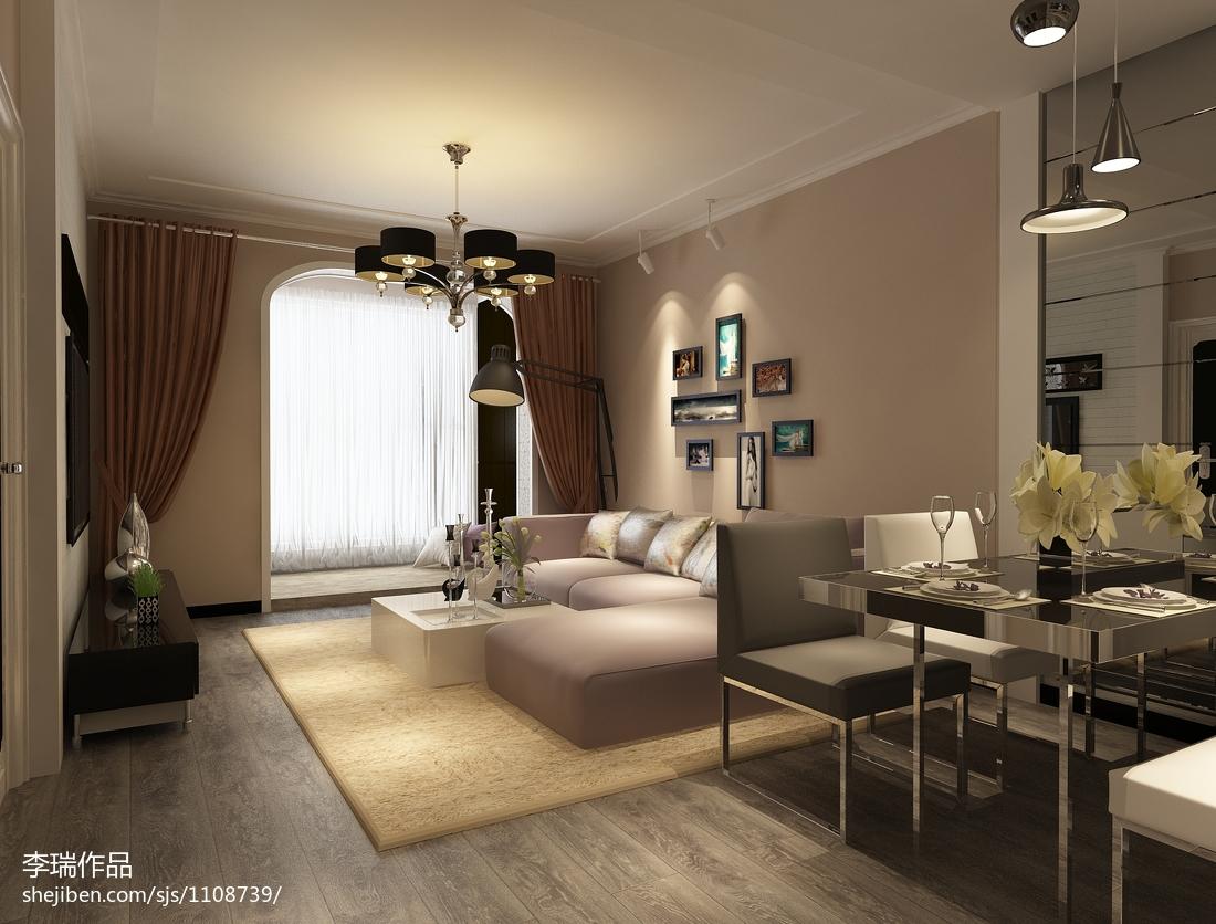 后现代室内客厅窗帘设计效果图