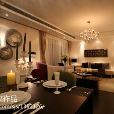 简欧田园风格两室两厅客厅装饰图片