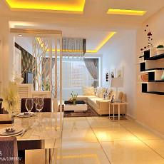 精美面积70平现代二居客厅装修效果图片大全