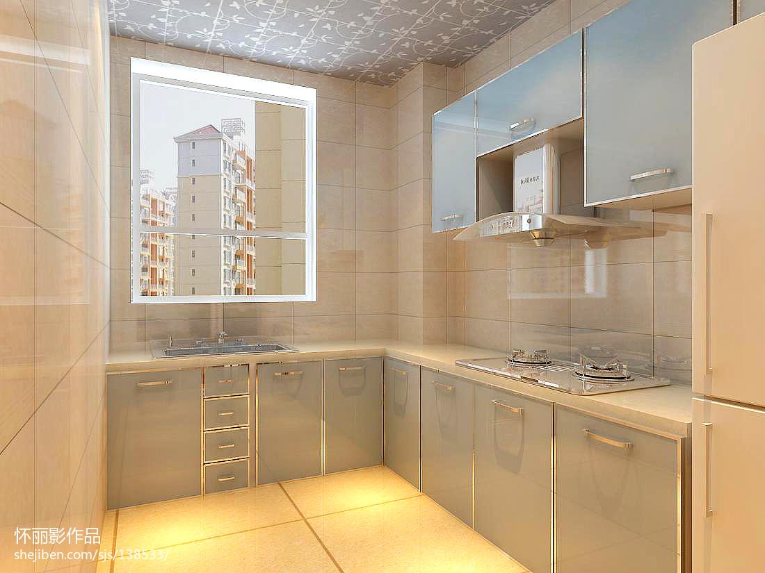 2018精选80平方二居厨房现代装修设计效果图片欣赏