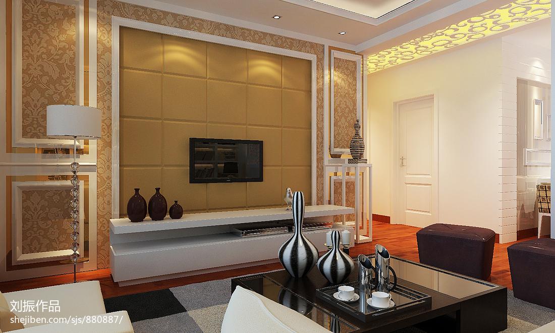 精美二居客厅新古典装修效果图片大全