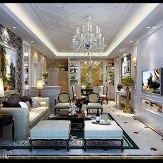 三居客厅欧式装修设计效果图片
