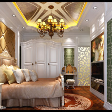 精美面积94平欧式三居卧室装修图片大全
