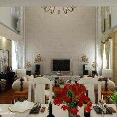精选面积119平复式客厅欧式装修设计效果图片大全