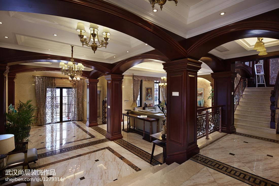 精选面积138平别墅客厅中式装饰图
