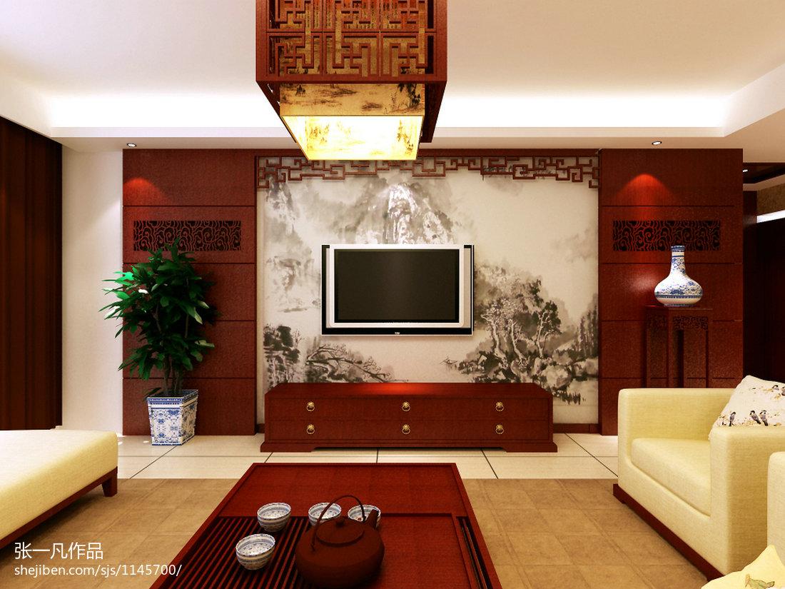 中式时尚格调卧室合计