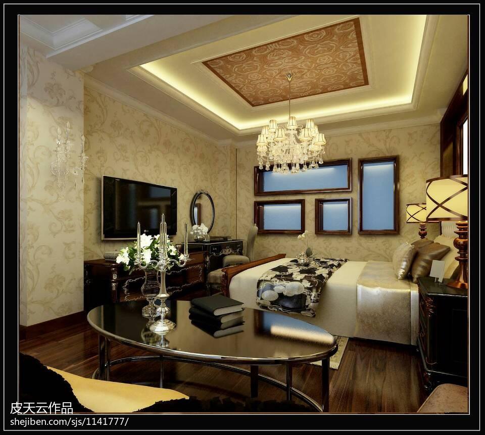 现代时尚卧室背景墙设计