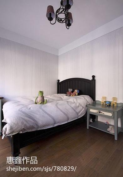 现代美式典雅卧室效果图