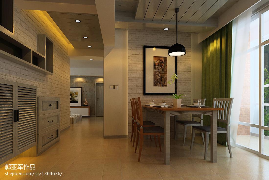 70平小户型餐厅装修效果图大全2013图片