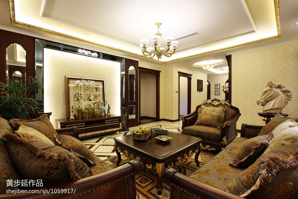 精美美式客厅装饰图