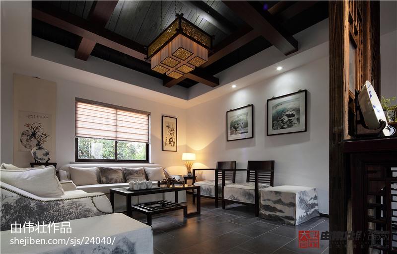 精美中式客厅装修实景图片