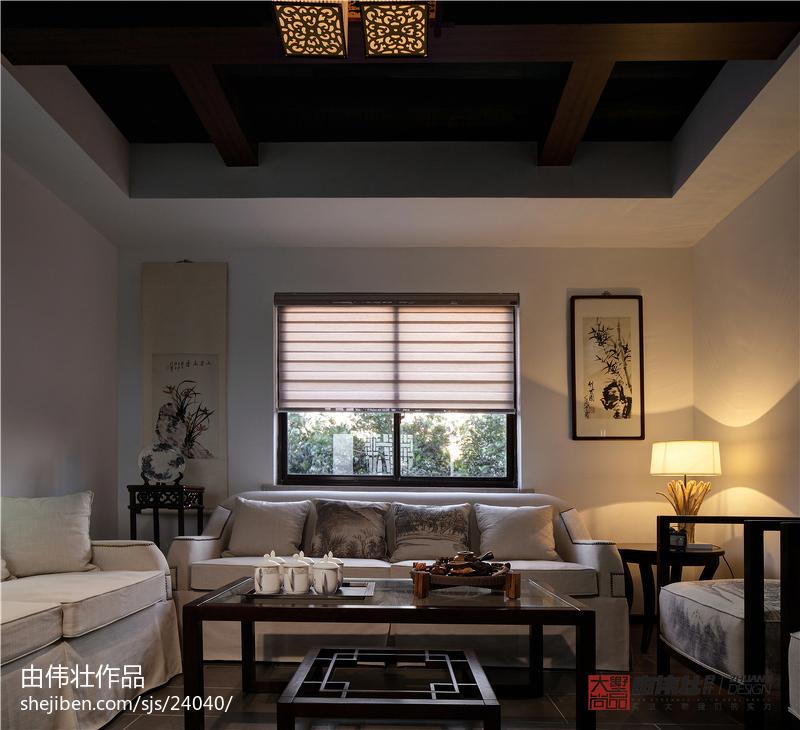 2018中式客厅装修实景图片欣赏