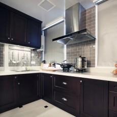 厨房实木橱柜装修图片