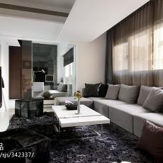 90平米三居客厅现代实景图