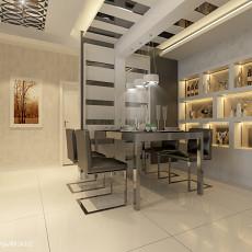 精美大小96平现代三居餐厅效果图片大全