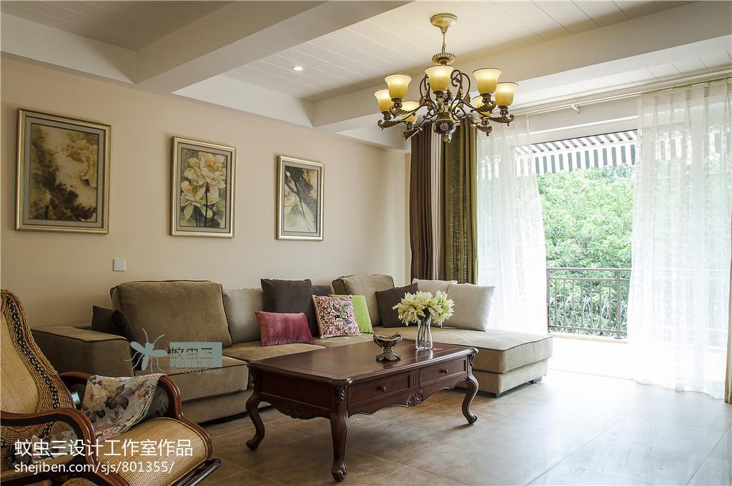 精美119平米美式复式客厅装饰图片大全
