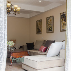 2018精选面积138平复式客厅美式实景图