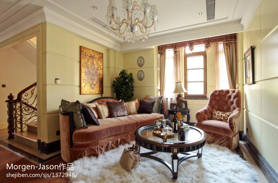 2018精选面积133平别墅休闲区欧式装修设计效果图片