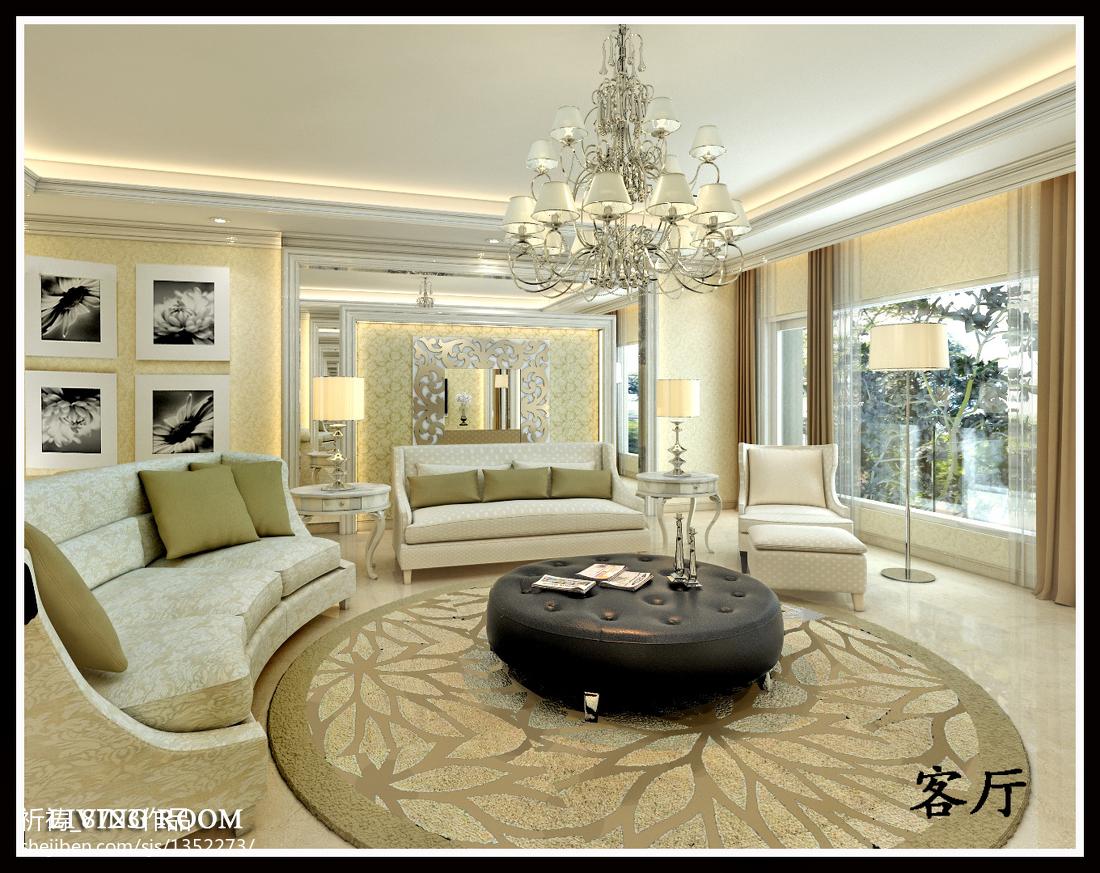 美式风格装修图片客厅