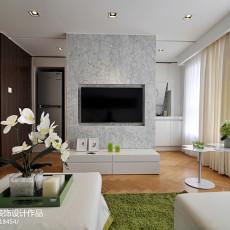 2018面积124平复式客厅现代装修图片欣赏
