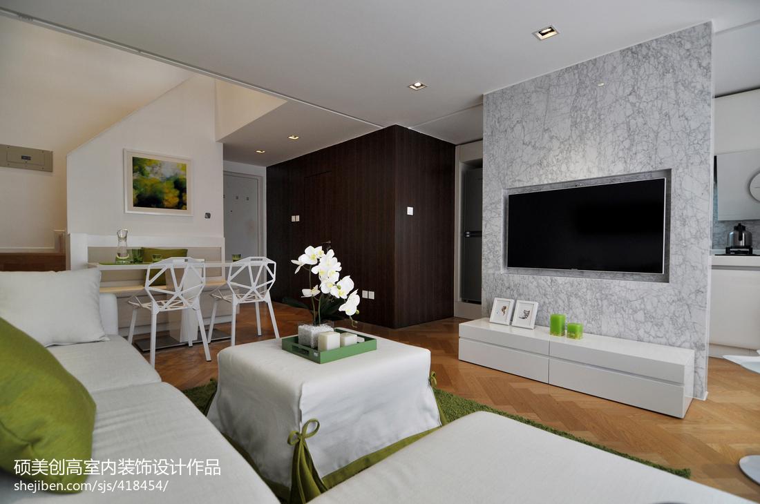 精美142平米现代复式客厅实景图