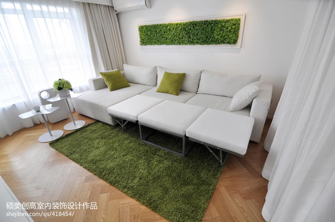 現代風格復式樓客廳裝修圖片