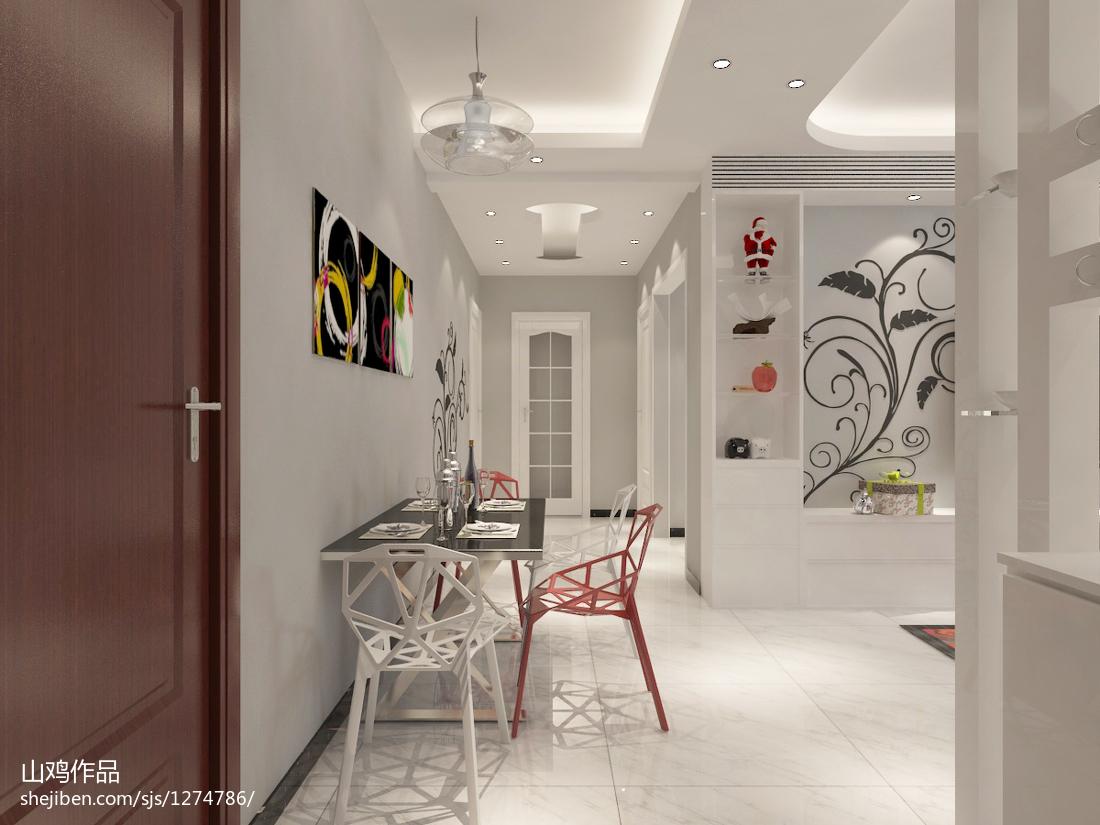 典雅现代乡村风格三室装修设计图片