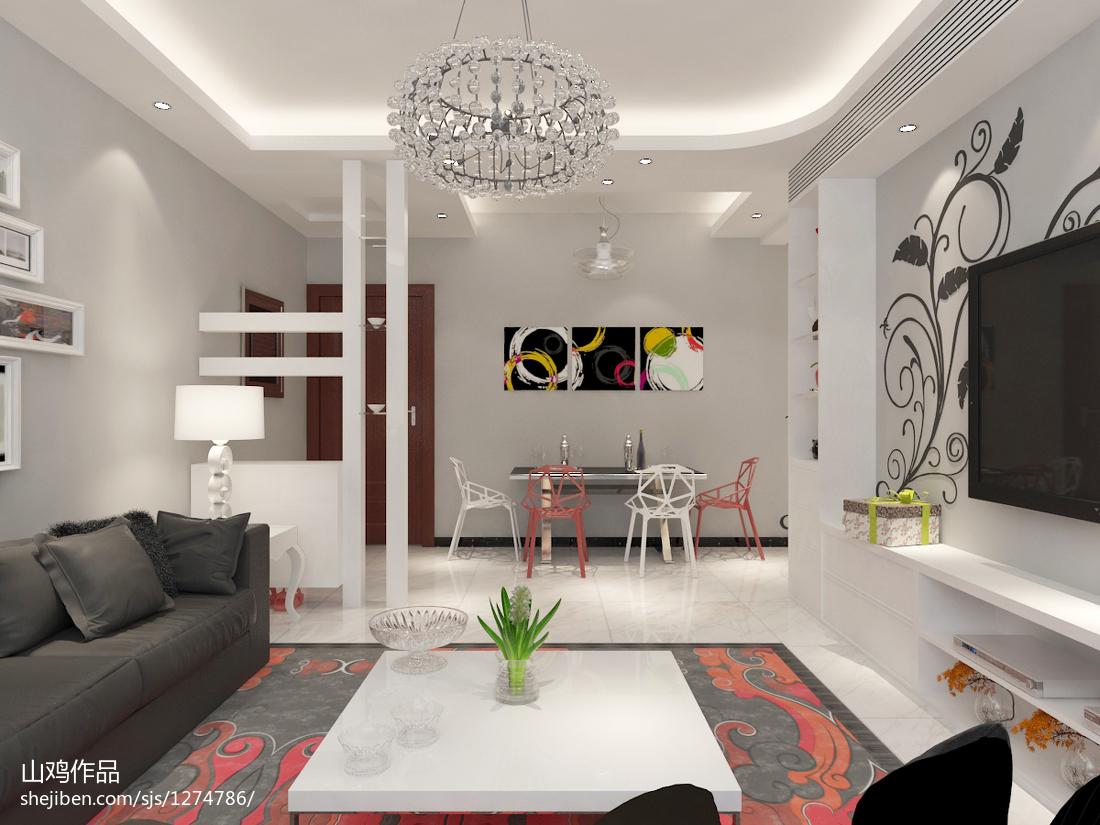 现代乡村风格三室装修设计图片