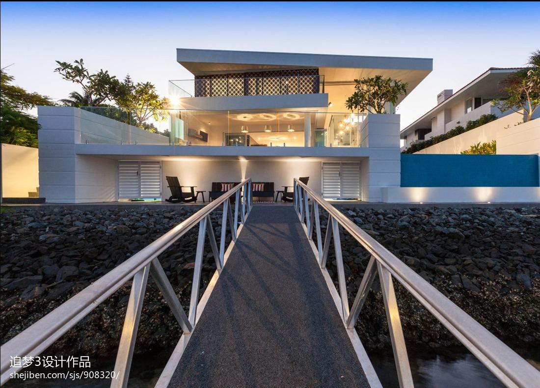 精选面积137平别墅花园现代装修设计效果图片