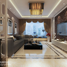 精美75平米二居客厅现代装修图片欣赏